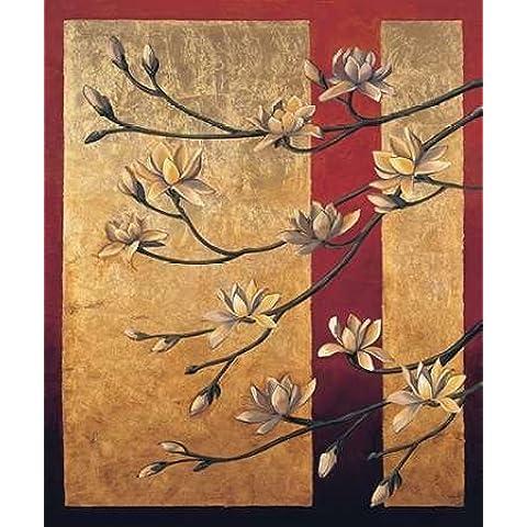 Impresión de Arte Fino en lienzo : Magnolia Screen by Deveraux, Jill - Medio (83 x 100 Cms)