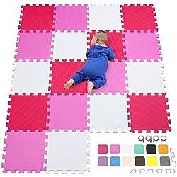Alfombra Puzzle para Niños Goma EVA Suave. 18 Piezas (30 x 30 x 1 cm)