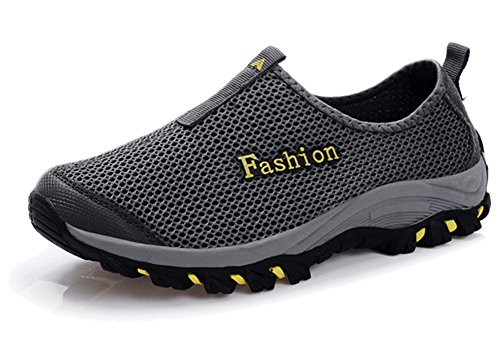 Fangsto Athletic Unisex mesh traspirante scarpe da corsa Decollet Grey