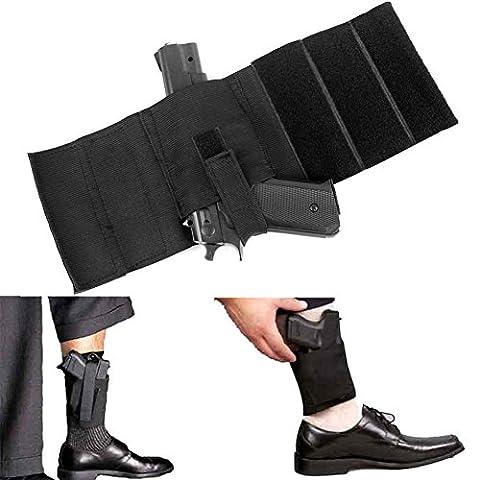 LIVEBOX Concealment Ankle Leg Pistol Gun Right Left Holster for Revolvers Small Frame Pistols Handguns Guns(Black)