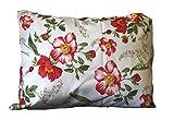Wunderschöne Kissenhülle 40x40 und 40x60 Kissenbezug Hülle Mohn weiß rot grün (40x60cm)