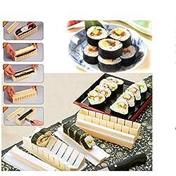 10 pz/set Fai da te Sushi Maker Kit Rotolo di Riso Stampo Facile da Usare Riso Stampo da Cucina Sushi che Fanno Strumento Set per Rotolo di Sushi Accessaries Cucina Cucinare Sushi Cutter Tool