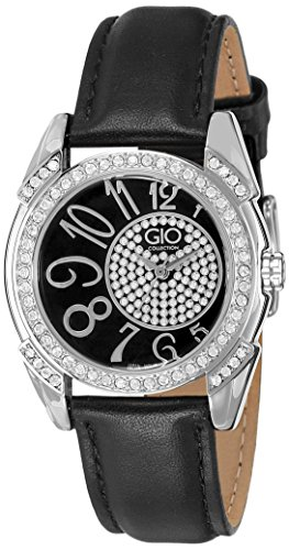 Gio Collection Analog Black Dial Women's Watch - G0041-01 image