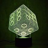 Blbling Würfel Nachtlampe 3D Usb Visuelle Led Bunte Nachtlichter Schreibtisch Tischlampe Schlafzimmer Nachtschlaf Nachtlicht