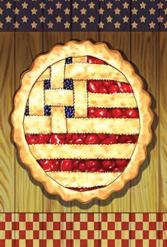 Toland Home Garden American Gitter Torte Deko Sommer Obst Dessert Juli 4 Sterne Streifen USA Haus Flagge House Flag (28