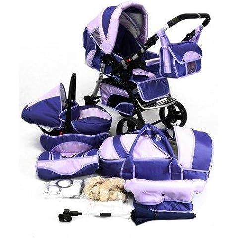 Best For Kids con la tecnología más reciente Desarrollo cochecito Prince Trio cochecito Combi combinada 3en 1–Sistema; Auto asiento; ruedas giratorias (Mega Set sobre 25–piezas; 16colores) + Gratis