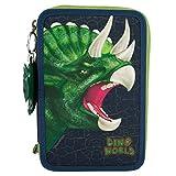 Dino World 8582 - 3-fach Federtasche mit Soundanhänger