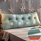 PIAOLING Cotton Bett Kissen, groß angelegte Dreidimensionale Dreieckige Doppel-Sofa Gepolsterte Rückenlehne Abnehmbare und Waschbare Bett Prinzessin Lange Nackenkissen Kissen Taille Schutz