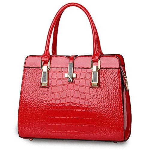 Mefly Neuen Handtasche Mode Schulter Messenger Bag Retro Frau gules