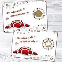 Carte à gratter Noël personnalisable annonce naissance, grossesse pour grands parents, futur papa, tante, oncle