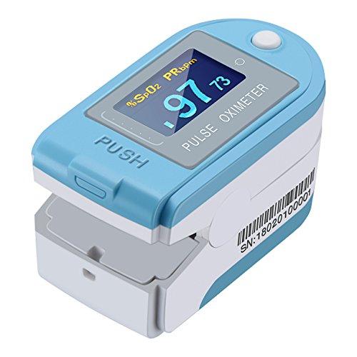Mpow Bluetooth Pulsossimetro, Saturimetro Livello di Saturazione dell'Ossigeno nel Sangue e Cardiofrequenzimetro con Grande 4 Girevole Display OLED, Certificazione FDA e CE