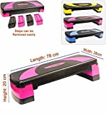 Best Aerobic Steppers - Xn8 Adjustable Stepper Step Block Cardiovascular Fitness Aerobic Review