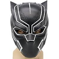 Schwarz Maske Kostüm Deluxe Halloween Erwachsene Weiches Harz Kopf Voller Helm Cosplay