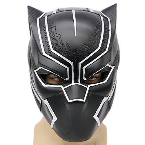 Schwarz Maske Kostüm Deluxe Halloween Erwachsene Weiches Harz Kopf Voller Helm Cosplay ohne Licht