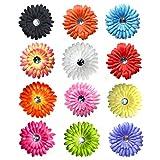 12-piece Daisy Flower Clip Brooch Hair Clip, 12 Color Single Flower Daisy