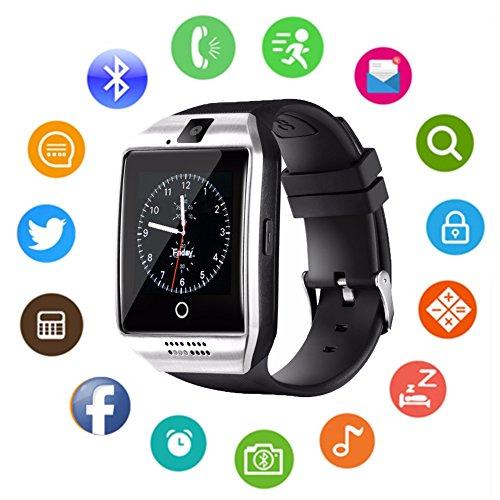 Tagobee TB-01 bluetooth reloj inteligente con reproductor de música de cámara admite pantalla táctil de tarjeta sim/TF para teléfonos android y iPhone plata