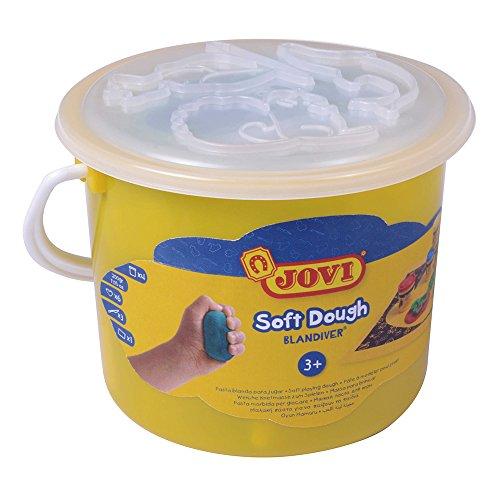 Unbekannt Jovi-Soft Dough Blandiver, Würfel, 4Dosen 50g mit Zubehör (444) (Plastilina Knetmasse)