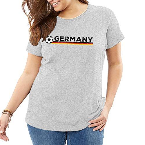 Xl995 Germany Flag Soccer Football Fan Jersey Big Size Women's T Shirt,Big Tshirts for Women's