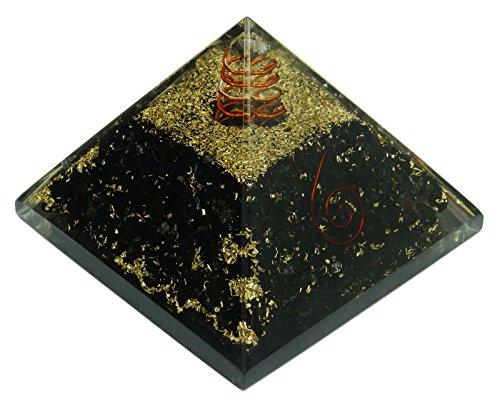 Harmonize avventurina piramide Orgonit cristallo Orgon Chakra Balancing terapia Reiki energia produttori, Cristallo, Black (Turmalin), SCHWARZ GESCHENK