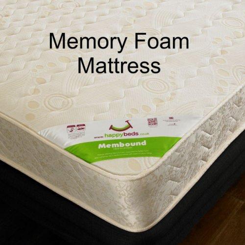 Happy Beds London Bus Bunk Bed Red Wooden Kids 2x Memory Foam Mattress 3' Single 90 x 190 cm
