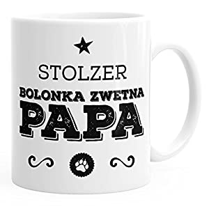 MoonWorks Kaffee-Tasse Stolzer Bolonka Zwetna Papa Bolonka Zwetna Besitzer Hundebesitzer weiß Unisize