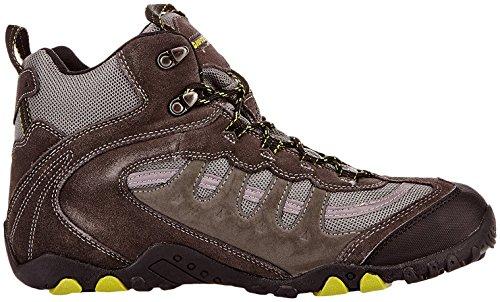Hi-Tec Penrith Mid WP M, Herren Trekking- und Wanderstiefel Grau (Charcoal/chartreuse)