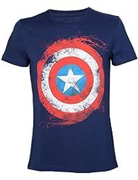 2x L de T-shirt de Marvel Captain America Bouclier
