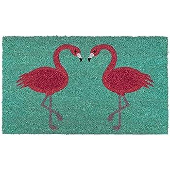 gift company fu matte kokosmatte flamingo 45 x 75 cm mit vinylr cken anti rutsch. Black Bedroom Furniture Sets. Home Design Ideas
