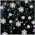 HAJKSDS 39Pcs / Set Adesivo per Finestra di Natale con Fiocco di Neve Adesivi per Parete di Vetro Invernale Camera per Bambini Decorazione Natalizia per Casa Anno Nuovo Adesivo
