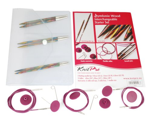 Knit Pro Symfonie - Kit para principiantes de agujas intercambiables
