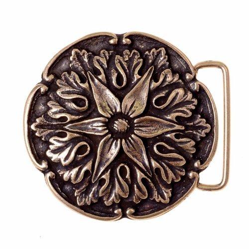 Buck-gürtelschnalle (Gürtelschnalle mit Akanthus-Ornament im Stil der Renaissance für 4 cm breite Gürtel Farbe silber)