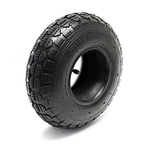 Reifen für den Aufsitzmäher 11x4.00-4 4pr mit Schlauch und Winkelventil Komplettrad Rasentraktor