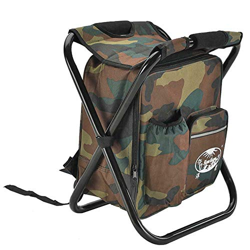 STARKWALL Outdoor-Fischerei-stühle Hiking Rucksack Mit Cooler Insulated Camouflage Seat Table Bag Fappenständer Camping-stühle Camo (Camo Rucksack Cooler)