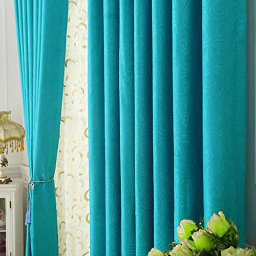 Fenster Curtain modern Panel vorhänge Sunscreen Thermal isoliert vorhänge Bleistift -2 Stück(Kontaktieren sie Mich, wenn Mull gebraucht)-G W118*H98inch(300 * 250cm)