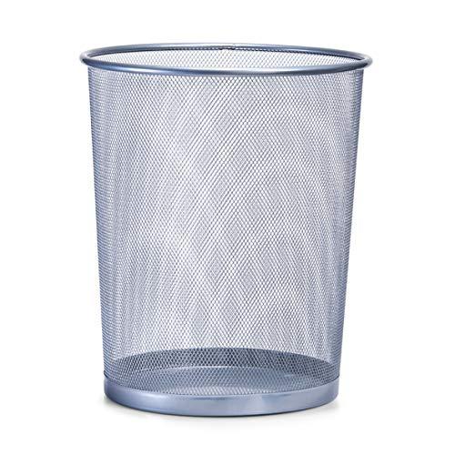 Zeller 18101 Papierkorb, Mesh ø29.5 x 35 cm - 4 0 Aluminium-draht