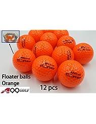 A99 Golf flotante Floater flotante agua gama 12 piezas, naranja