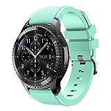 Bracelet de montre pour Samsung Gear S3Frontier, Ihee souple en silicone de remplacement Sport Strap Bracelet pour Samsung Gear S3Frontier M vert menthe