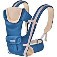 ThreeH Baby Carrier from Birth Backpack with Comfort Back Panel for Infants BC07,Brown