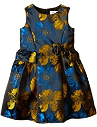 Us Angels Little Girls' Floral All Over Brocade Dress