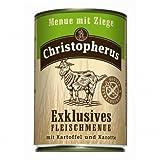 6 x Allco Christopherus Menue mit Ziege 400 g, Hundefutter, Nassfutter