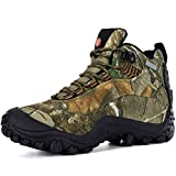XPETI Hiking Boots, Uomo ShoesTrail Scarpe da Trekking Impermeabili Mid Alpinismo Calzature Escursionismo Outdoor Montagna Basse Backpacking Walking Camouflage 46