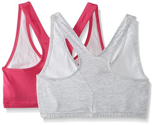 Hanes ComfortBlend ComfortFlex Fit® Pullover Bra 2-Pack 3XL White Heather Grey/Fuchsia Purple