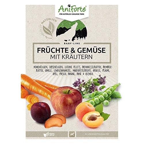 AniForte B.A.R.F. Line No2 Früchte und Gemüse- in verschiedenen Größen- mit Kräutern 1kg glutenfreie Gemüseflocken Hundefutter- Naturprodukt für Hunde - 3