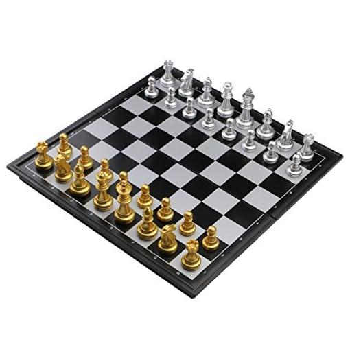Schachspiel-Magnetisch-Einklappbar-Schachbrett-Pdagogische-Speil-fr-ab-6-Kinder-25x25cm Fajiabao Schachspiel Magnetisch Einklappbar Schachbrett Pädagogische Speil für ab 6 Kinder 25x25cm -