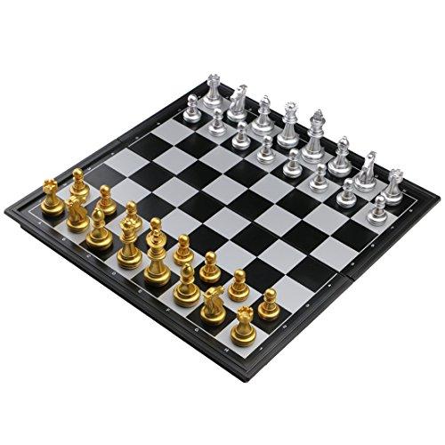 Fajiabao Jeu d'échecs Magnétique Plateau Pliant Loisirs Jouet Jeux Société pour Enfants