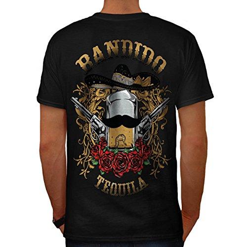 Bandido Tequila Rose Mexiko Gewehr Herren M T-shirt Zurück | Wellcoda (Bandido Kostüm)