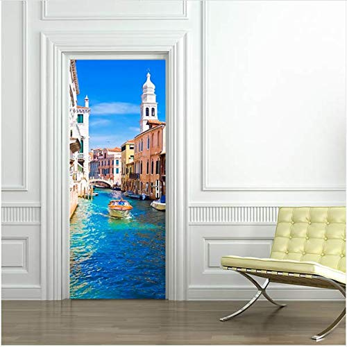 Newberli Venedig Straße Eingang Zeichen Wand Oberfläche Wand Tür Aufkleber Wohnheim Wohnzimmer Shop Office Home Cafe Hotel Dekoration