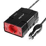 BESTEK Inversor De Corriente 300W 12v A 220v para Coche, Convertidor 12v 220v, Transformador con 2 Puertos USB Y Adaptador De Mechero De Coche,Actualizado