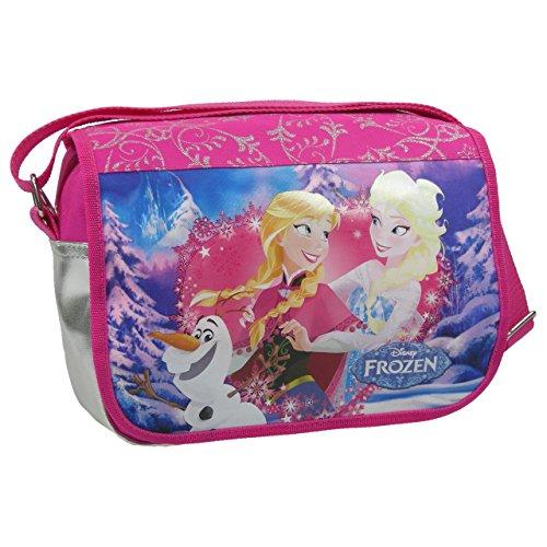 FROZEN / Die Eiskönigin - Schultertasche / Handtasche / Tasche + 16 Frozen Sticker - Motiv: Anne, Elsa + Olaf - (Elsa Und Kostüm Kristoff)