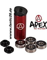 Apex Ceramic Patinete de Bearing Set kugellager4 X 608 2RS (8 x 22 x 7)
